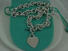 d2ac1d272 Tiffany &Co 925 Sterling Silver Alphabet Heart Tag Necklace 16.5