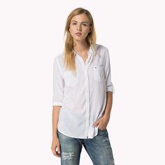 Hilfiger Denim Nea Chemise Léger - classic white (Blanc) - Hilfiger Denim Chemises - image principale