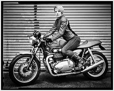 "Alicia ""Motolady""Elfving - Pipeburn - Purveyors of Classic Motorcycles, Cafe Racers & Custom motorbikes"