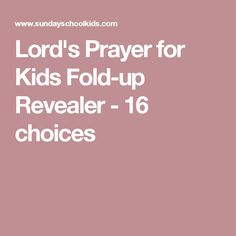 Lord's Prayer for Kids Fold-up Revealer - 16 choices