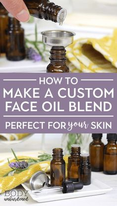 to Make A Custom Face Oil Blend (perfect for YOUR unique skin!) How to Make A Custom Face Oil Blend (perfect for YOUR unique skin!)How to Make A Custom Face Oil Blend (perfect for YOUR unique skin! Diluting Essential Oils, Essential Oil Blends, Essential Oils For Face, Essential Oil Carrier Oils, Carrier Oils For Skin, Doterra Acne, Face Mapping, Face Serum, Beauty Secrets