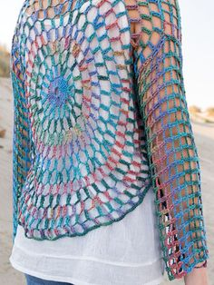 Crochet Patterns - ANNIE'S SIGNATURE DESIGNS: Sand Dollar Cardi & Necklace Crochet Pattern