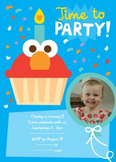 Birthday invitation wording invitation wording and birthdays cardstore makes it easy to personalize and mail birthday invitations like elmo time to party invitation just add your own photos text and a signature to a stopboris