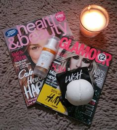 Saturday morning relaxing  #bathtime #bathbomb #candles #magazines #bootshealthandbeauty #glamourmagazine #lushcosmetics #dragonsegg #bbloggers #beautybloggers #beautyuk #bbloggersuk #bath #lush #glamour #health #beauty