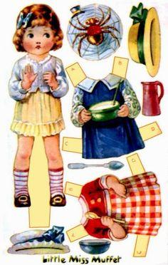 Bonecas de Papel: vintage