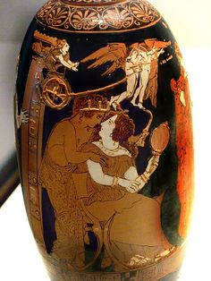 Image result for Ancient Greek Vase Paris and Helen