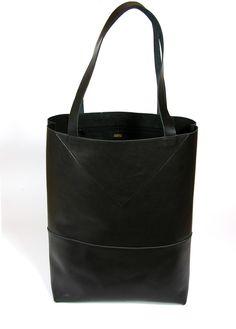 Ledertaschen - Leder-Shopper Schwarz, Tote-bag, Ledertasche - ein Designerstück von charlottesimon bei DaWanda