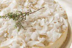 Lemon Thyme Pine Nut Vegan Cheesecake