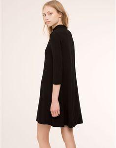 PLAIN HIGH COLLAR DRESS - DRESSES - WOMAN - PULL&BEAR Sweden