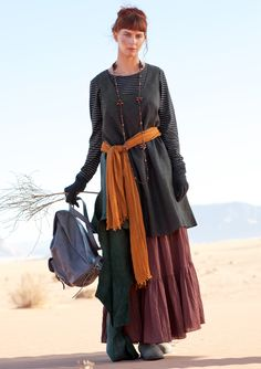 Herringbone weave dress in wool, linen & cotton – Skirts & dresses – GUDRUN SJÖDÉN – Webshop, mail order and boutiques   Colourful clothes and home textiles in natural materials.