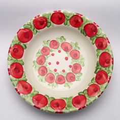 paige Teller, Plates, Tableware, Red, Green, Tablewares, Licence Plates, Dishes, Dinnerware