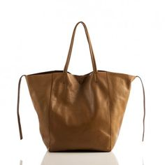 Leather Handbags-Sybil Solid Tote by Linea Pelle