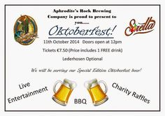 #Oktoberfest for beer lovers, 11/10... A chance to visit Cyprus' first micro-brewery and sample their fine ale selection. #AphroditesRockBrewingCompany is a family-run craft brewery in the Paphos hills.  Tickets: €7.50 - includes entertainment, brewery tour and a pint! Booking and further details: www.aphroditesrock.com.cy Post: Nikki at www.pissouribay.com and http://plus.google.com/+PissouribayCyp.