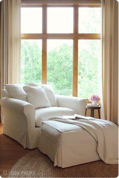 overstuffed comfy chair