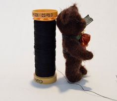 Miniature teddy bear dollhouse teddy bear by EclecticWandering