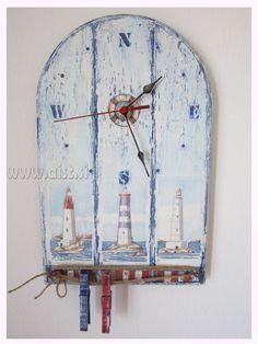 Decoupage tutorial - DIY. Shabby chic. How to make a clock. Craft tutori...