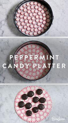 How to Make a Peppermint Candy Platter. Serve your holiday desserts on an edible plate.