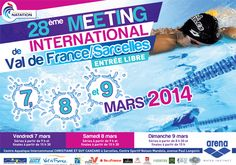 Natation : Meeting International Sarcelles Val de France. Du 7 au 9 mars 2014 à sarcelles.