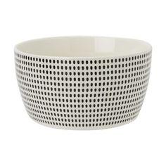 Black Dash Cereal Bowl