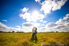 Sugar Land Wedding Photographer, Beautiful Blue Sky Engagement Session