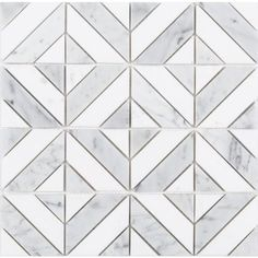 Floor tile Anatolia Tile Venatino Parquet Polished x Marble Wall Tile (Common: x Actual: x at Lowe's. Unique parquet pattern with white and gray marble. Master Bathroom Shower, Downstairs Bathroom, Small Bathroom, Bathrooms, Gray Marble, Marble Wall, Marble Mosaic, Shower Tiles, Shower Floor