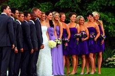 love the dark purple and light lavender for my maid of honor! and Purple for the Lakers for my man lol  www.gaynespark.co.uk  #weddings