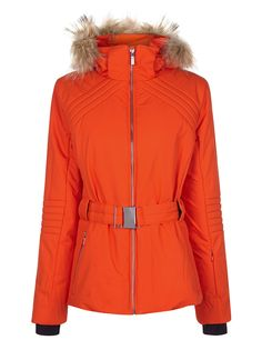 Designer Clothes, Shoes & Bags for Women Orange Jacket, Quilted Jacket, Outerwear Jackets, Ski Jackets, Skiing, Hoods, Hooded Jacket, Active Wear, Ready To Wear