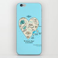 iPhone & iPod Skin featuring A Map of the Introvert's Heart by Gemma Correll