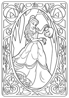 Printable Disney Belle PDF Coloring Pages. High quality free printable coloring, drawing, painting pages here for boys, girls, children . Disney Belle, Bella Disney, Little Disney Princess, Disney Princess Dress Up, Disney Princess Colors, Disney Colors, Princess Belle, Rapunzel Coloring Pages, Belle Coloring Pages