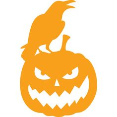Silhouette Design Store - View Design #148544: crow and jack o' lantern