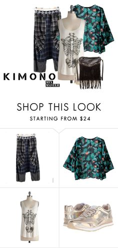 """Kimono Urban Style"" by writerjw ❤ liked on Polyvore featuring PepQueen, Skechers, T-shirt & Jeans, urban, citystyle and kimonos"