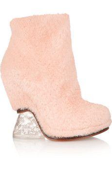 Fendi Shearling ankle boots | NET-A-PORTER