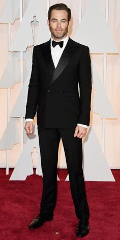 Academy Awards 2015 Red Carpet Arrivals - Chris Pine from #InStyle