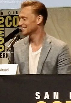 CUTIE --Tom Hiddleston Crimson Peak SDCC 2015 Panel Full: https://www.youtube.com/watch?v=ISu4nYHIm68. Via http://wherewellshine.tumblr.com/post/123875420941/x#tumblr_notes