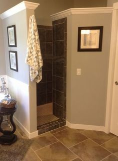 Walk-In Shower. No door. No curtain. Yes, please.