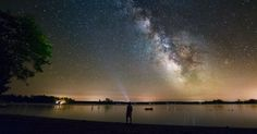 If you live in a remote area with dark skies, you are one of the lucky ones; the lucky ones that get to look up on a clear dark night and see a thick band