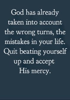 Its time to get over your mess ups.God has and that's all,that matters. Bible Verses Quotes, Faith Quotes, Uplifting Quotes, Inspirational Quotes, All That Matters, God Prayer, Quotes About God, Faith In God, Words Of Encouragement