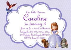 Sofia The First Birthday Invitation By OnceUponAdorable On Etsy - Sofia the first party invitation template