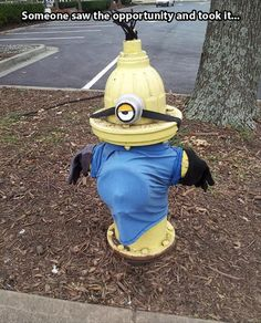 Someone saw the opportunity and took it... I think it should be a standard for all yellow hydrants