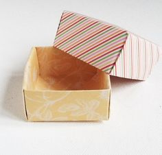 Origami Boxes Set of 3 Hand folded paper by WideSkyPapercrafts, £4.00