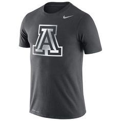Arizona Wildcats Nike Performance Cotton Travel T-Shirt - Anthracite