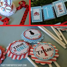 Carnival Birthday Party Decorations Package by PartyOnPurposeShop