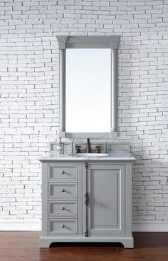 "Providence 36"", James Martin Urban Grey Transitional Bathroom Vanity"