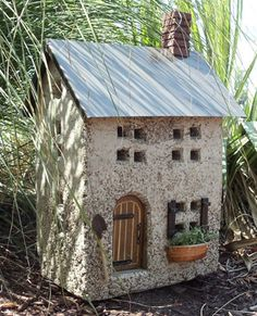 Hypertufa Garden Art Fairy Cottage | Downing Street Stone Cottage Townhouse-Ships Separately
