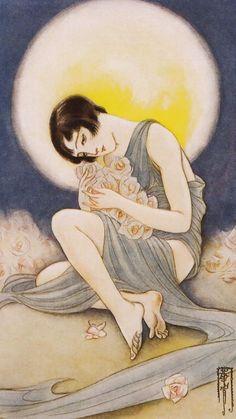 Takabatake Kasho-Bara no Japanese Illustration, Illustration Art, 1920s Aesthetic, This Side Of Paradise, Japan Art, Illustrations And Posters, Sculpture, Vintage Japanese, Art Forms