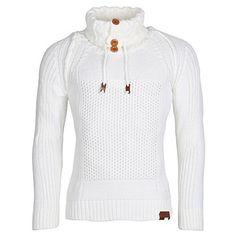 d6ebb69351eb Shoppen Sie Pullover Herren Strickpullover Strick Pulli Winter asymetrisch  Zopfstrick Slim Fit Optik auf Amazon.de Pullover