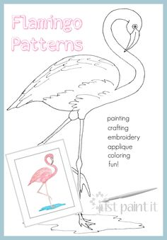 Flamingo Friday In honor of Flamingo Friday, here are TWO flamingo patterns for you to create your own flamingo celebration!In honor of Flamingo Friday, here are TWO flamingo patterns for you to create your own flamingo celebration! Flamingo Craft, Flamingo Painting, Flamingo Decor, Flamingo Pattern, Flamingo Party, Pink Flamingos, Applique Patterns, Embroidery Applique, Craft Clay