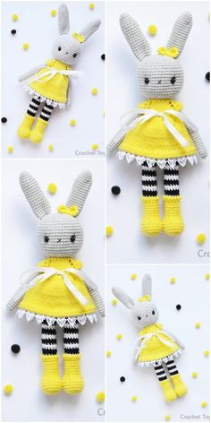 The latest amigurumi bunny crochet patterns are waiting for you. You can find everything on this site that you cannot find related to Amigurumi. Crochet Easter, Bunny Crochet, Crochet Mignon, Crochet Patterns Amigurumi, Cute Crochet, Amigurumi Doll, Crochet Dolls, Knitting Patterns, Knitted Teddy Bear