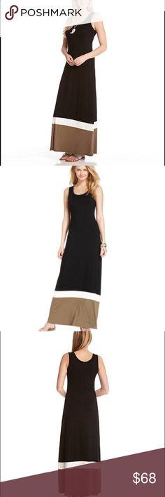 Karen Kane Contrast Maxi Black, White, and Olive Green Contrast Maxi Dress!                                                                                  ✳️90% Rayon 10% Spandex Karen Kane Dresses Maxi