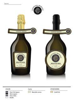 Prosecco docg spumante millesimato Campana Barone Label Wine